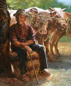 Joseph Sherly Sheppard (1930)-Cattle Seller