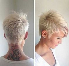 Today we have the most stylish 86 Cute Short Pixie Haircuts. We claim that you have never seen such elegant and eye-catching short hairstyles before. Pixie haircut, of course, offers a lot of options for the hair of the ladies'… Continue Reading → Funky Short Hair, Short Hair Styles For Round Faces, Short Hair Cuts For Women, Short Hairstyles For Women, Trendy Hairstyles, Medium Hair Styles, Girl Hairstyles, Hairdos, Short Hair For Round Face Plus Size