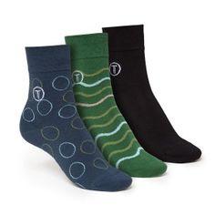 ThokkThokk 3er Pack Mid-Top Socken Black/Waves/Circle