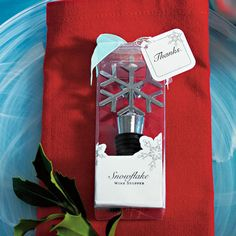 Winter Snowflake Wine Stopper Wedding Favors (Wedding Star 6096) from Wedding Favors Unlimited.