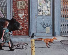 COALITION II by Kevin Peterson  - from a series of little girls in urban zones with power animals   http://kevinpetersonstudios.com/gallery