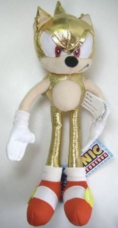 Large Sonic the Hedgehog Plush Doll -  Super Gold Sonic 25in Plush Doll Figure @ niftywarehouse.com #NiftyWarehouse #Sonic #SonicTheHedgehog #Sega #VideoGames #Gaming