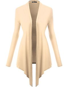 02b99acb64d  FINAL SALE  Twinth Womens Long Sleeve Drape Collar Asym Hem Cardigan