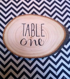 Wedding Wood Slice Table Numbers