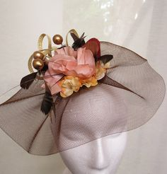 a5b1baef27157 Fascinator Wedding Hat CHOCOLATE TREE by FascinatorsFirst on Etsy