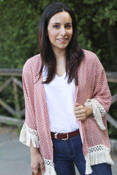 kimono flecos #look #kimono #flecos #jeans #fashion #shaqp #siemprehayalgoqueponerse #moda #blogger