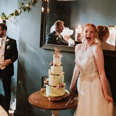 I love this photo of my gorgeous bride Sophie from back in August. This photo is when I saw the cake for the first time!! Can you tell that I liked it?! :)  I loved this cake. 4 tall tiers of watercolour buttercream covered joy! Seams of gold leaf and finished with my very favourite edible decoration; some gilded figs. .  @roderickalanphotography  @the_georgian_townhouse . #buttercreamcake #watercolourbuttercream #buttercreamweddingcake #goldleaf #talltiers #finecitycakes #finecitybakes… Buttercream Wedding Cake, I Saw, First Time, Georgian Townhouse, Flower Girl Dresses, Bride, Figs, My Love, Gold Leaf