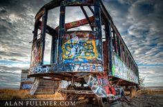 graffiti train car in utah