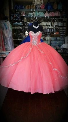 Cheap Pink Beaded Quinceanera Dresses Prom Party Pageant Gowns For 15 Years Xv Dresses, Quince Dresses, Ball Gown Dresses, Prom Party Dresses, Quinceanera Dresses 2016, Robes Quinceanera, Quinceanera Themes, Sweet 15 Dresses, Pretty Dresses