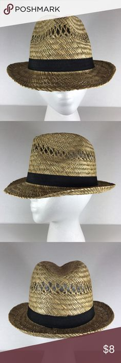 🆕Straw fedora summer hat with black ribbon Get ready for the sun with this classic woven straw fedora. It's simplistic design with fabric ribbon trim make it a wear-with-all piece.  🔺Firm price🔺 Accessories Hats