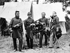 Officers of Combined Batteries B & L, 2nd U.S. Artillery. L-R: Wilson, Vincent, Robertson, Woodruff.    The Horse Artillery Brigade of the Army of the Potomac was a brigade of various batteries of horse artillery during the American Civil War.