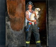 Charleston SC fire fighter and a rescue beastie