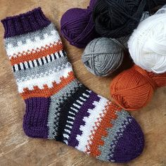 Fair Isle Sock by Crochet Socks, Knit Crochet, Sport Weight Yarn, Hand Knitting, My Design, Crochet Patterns, Slippers, Instagram Posts, Diy