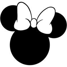 Minnie Mouse Head Silhouette Walt Disney Disneyland World