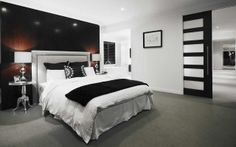 We have a range of new home designs with luxury inclusions and ultimate flexibility for families! Discover our new home designs in Melbourne at Metricon. Master Bedroom Interior, Home Bedroom, Bedrooms, Bedroom Ideas, Master Room, Bedroom Doors, Master Suite, Bari, Cavity Sliding Doors