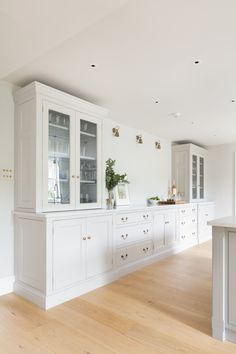 Glass Cabinets Built Into Kitchen Units