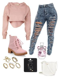 """""""Watching Alvinnn!!! and the Chipmunks"""" by aniyahg ❤ liked on Polyvore featuring moda, Victoria's Secret, Topshop y Talullah Tu"""
