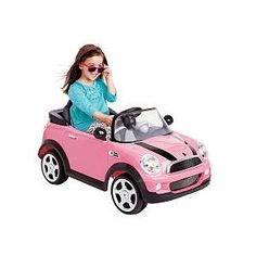 maybe Addie needs it first and it can be passed down? Avigo 6 volt Mini Cooper Car Ride On - Pink Toy Cars For Kids, Kids Toys, Pink Mini Coopers, Kids Trike, Cooper Car, Kool Kids, Ride On Toys, Little Fashionista, Toys R Us