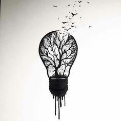drawings pencil lightbulb tattoo sketches tattoos bulb drawing cool easy desenho draw lampada ink charcoal related artwork motive artist desenhos