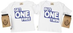 SR - Buy One, Get One Free Set Toddler T-Shirt in Milk Carton 3-4Y White 100% thick Organic Cotton made under The Global Organic Textile Standard (GOTS), The Fair Wear Foundation (FWF) and The Soil Association high standards. Please see our description below about our fabric.. Two Garments, for each twin and each gift wrapped in separate funky Milk Cartons which come with a re-useable lid. Printed... #Spoilt_Rotten #Baby_Product