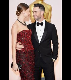 Adam Levine and Behati Prinsloo - what an adorable shot!