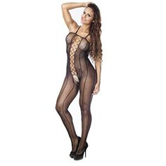 3cc41c70aa0 Oksale Women Sexy Halter Fishnet Crotchless Bodysuit Bodystocking Lingerie     See this great product.
