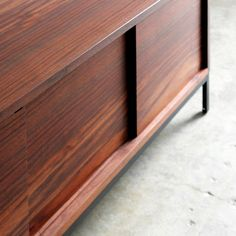 Functional furniture can be an inspiration, and the Farmhouse Modern Credenza is just such a piece! Combining utility with beautiful materials and fine craftsmanship, this storage powerhouse is perfec Wood Furniture, Modern Furniture, Furniture Ideas, Sustainable Furniture, Modern Credenza, Fine Woodworking, Woodworking Ideas, Adjustable Shelving, Modern Farmhouse