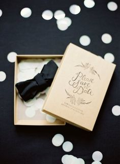inspiration | save the date box | great idea for asking bridesmaid and groomsmen to stand by your side on your special day | via: style me pretty