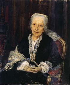 Jules Bastien Lepage, Portrait of Juliette Drouet, Victor Hugo's lifetime lover, one year before her death, 1883