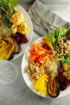 Autumn nourishing bowl: Roasted squash and cauliflower (vegan, gluten-free, paleo)