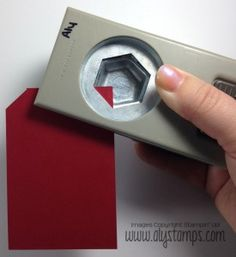 Use the Hexagon Punch to make perfect tags, every time!  Stampin' Up!