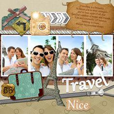 travel scrapbook design