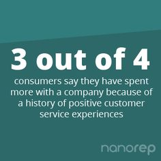 Leave your customers coming back for more, cause 3 out of 4 will return if you make them happy. #customerservice #customercare #selfservice www.nanorep.com Customer Service Experience, Self Service, Comebacks, Numbers, Positivity, Sayings, Happy, How To Make, Lyrics