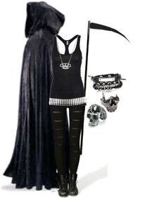 This could be a really easy Halloween costume for me. Dark Fashion, Emo Fashion, Gothic Fashion, Womens Fashion, Couture Fashion, Punk Outfits, Female Outfits, Halloween Kostüm, Gothic Halloween Costumes
