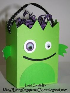 Organized Chaos...: Little Monster Treat Bag: FCCB Challenge #33--Halloween!