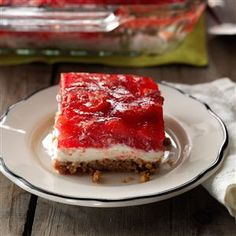 Strawberry Pretzel Dessert Recipe from Taste of Home -- shared by Aldene Belch of Flint, Michigan