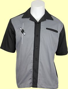 Black and grey Retro shirts For Rockabilly, Swing, and Lounge