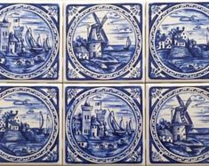 Pottery & Glass Delft Porceleyne Fles Delft Tile Veere Cool In Summer And Warm In Winter