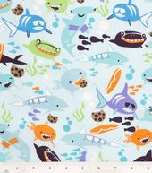 Novelty Quilt Fabric-Shark Bite