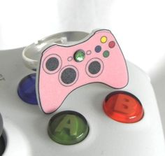 GIRL GAMER Pink Xbox 360 Video Games Controller Ring XBOX360. £4.00, via Etsy.