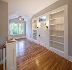 Plaza Midwood Craftsman - 2nd Story Addition, built - in bookshelves and little door