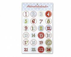 Krima und Isa - Sticker Adventskalender 1 - 24