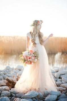 Handmade tulle #weddingdress | Kristina Curtis Photography | See more on http://burnettsboards.com/2014/01/mother-daughter-inspiration-shoot/