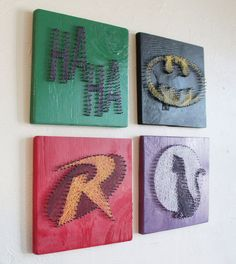 Batman String Art - Wall Hangings (Set of Four). $100.00, via Etsy.