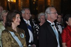 King Carl Gustav and Queen Silvia of Sweden 1/29/13