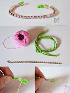 DIY Stackables: Crystal chain bracelet.