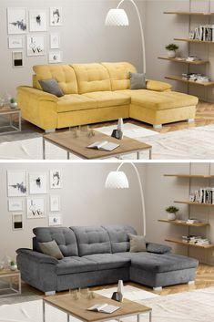 Čisté línie, precízne vyhotovenie a výnimočné prevedenie, to všetko sú prednosti krásky s menom 💛EVANGELIN💛. Pýši sa moderným a nadčasovým dizajnom. #sedacka #sedaciasuprava #obyvacka #domov #byvanie Couch, Furniture, Home Decor, Homemade Home Decor, Sofa, Couches, Home Furnishings, Sofas, Sofa Beds
