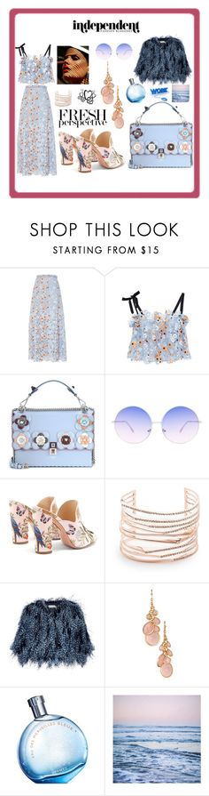 """THAT IS A FINE MULE"" by giagiagia ❤ liked on Polyvore featuring Katie Ermilio, Fendi, Skinnydip, Aquazzura, Alexis Bittar, Mary Katrantzou, Avon, Hermès and Leah Flores"