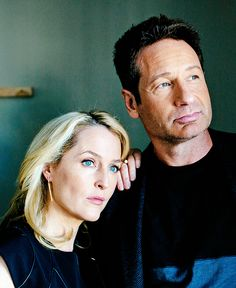 scully1964:   Mr. Duchovny, 55, and Ms. Anderson, 47, seem more comfortable playing Mulder and Scully than they ever have. Their on-screen chemistry, always obvious, has only increased, and their off-camera relationship has changed. They weren't really friends when the show began. Now, they tease each other between takes, sometimes breaking into giggles and falling into each other's arms. (x)