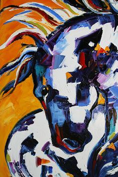 Equine Artists International - Contemporary Fine Art International: Day Four Reverence to the Sun Contemporary Horse Paintings by Texas Arti...